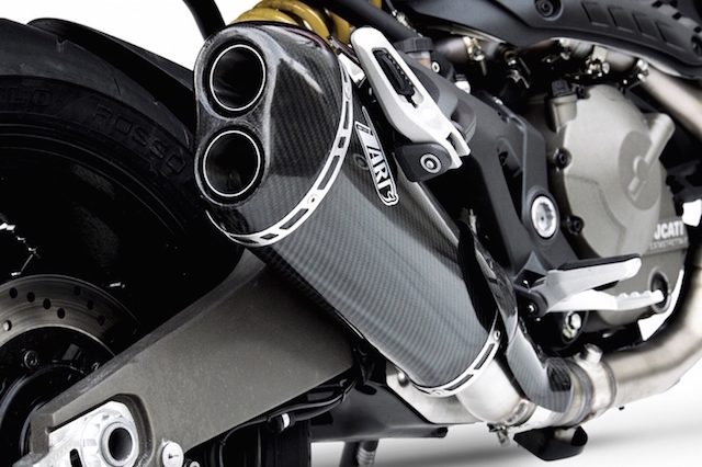 DUCATI MONSTER 821, Slip-On Kolfiber